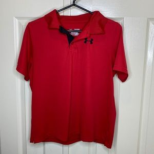 Red Performance Golf Polo